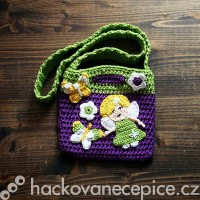 Háčkovaná kabelka s vílou
